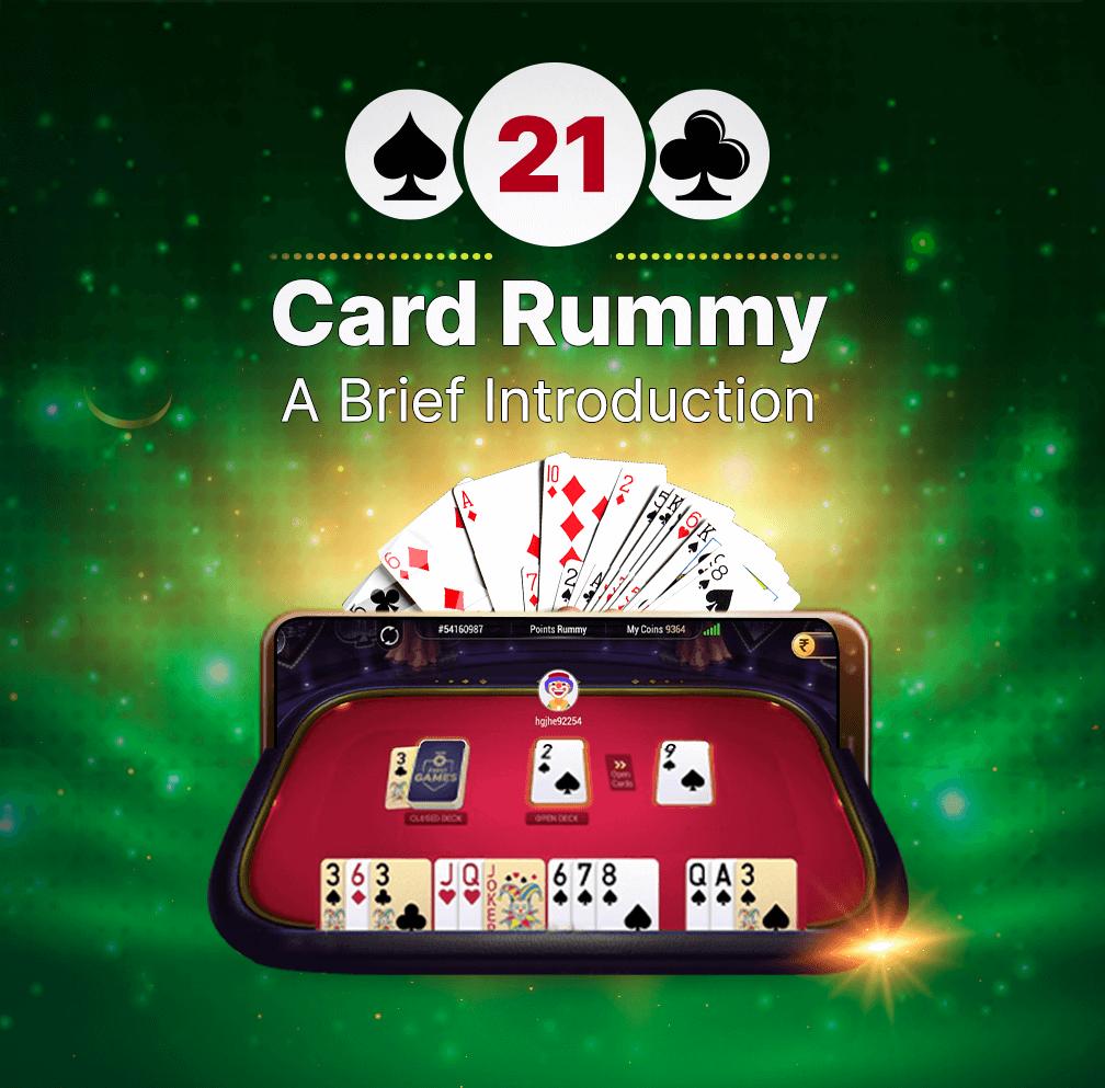21 Cards Rummy Banner